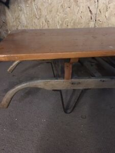 Antique cart coffee table