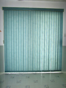 Curtains-Fabric Vertical Blinds, Valance, Rods