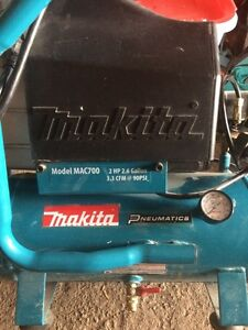 COMPRESSEUR MAKITA +GUN A FINITION 18 GA