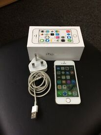 Apple I phone 5s white and gold 16GB unlocked to any network fully working boxed