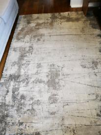 Cream beige and grey rug large 230 *170