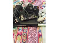 Xbox 360 with 2 wireless controllers and games
