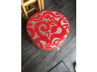 Red corner chair