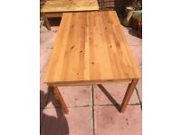 IKEA pine farmhouse table. Free delivery.