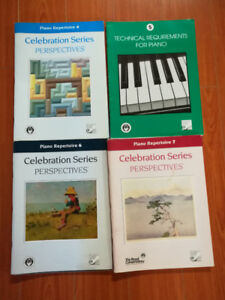 RCM piano books for levels 4, 5, 6 and 7