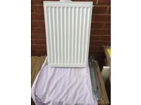 "Stelrad white radiator single 16"" wide X 24"" high"