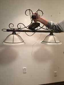 Dual light fixture (great over a pool table) Kitchener / Waterloo Kitchener Area image 1