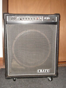 "Crate Bass Amp 15"" combo on wheels"