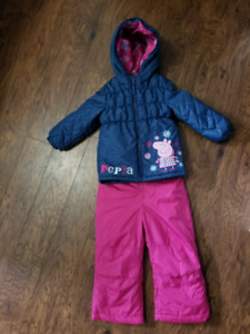 2T Peppa Pig Snowsuit