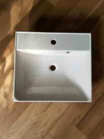 Countertop bathroom basin, Crosswater Glide 50x45x8cm