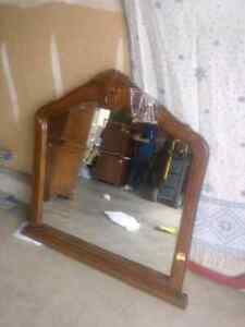 Crafted solid Wood mirror
