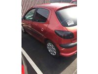 PEUGEOT 206 SMOKED TAIL LIGHTS AND AFTERMARKET HEADLIGHTS