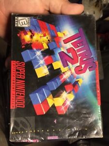 Tetris 2 and Vegas stakes for SNES new still in packaging