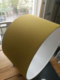 Yellow ceiling lightshade