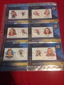 NHL 50th all star game collectible stamps
