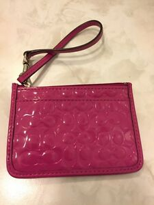 NEW Coach patent leather credit card/change holder
