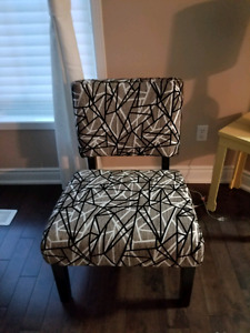 Upholstered two identical chairs