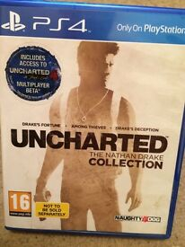 PS4 game Uncharted: The Nathan Drake Collection
