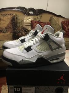Air Jordan 2016 White Cement 4s Size 10
