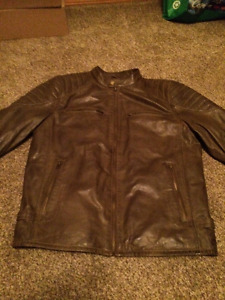 BRAND NEW WILSON  SOFT LEATHER JACKET BROWN XL