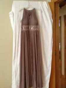 Mother of the bride gown and gold dress