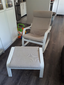 IKEA Poang rocking chair & foot stool