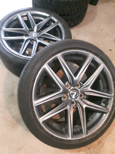 18 inch OEM Lexus wheel package