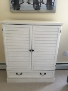 White armoire for TV