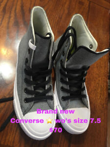 Selling various of clothes , and shoes, ice skate.
