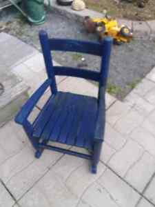 solid wood kids rocking chair to refinish