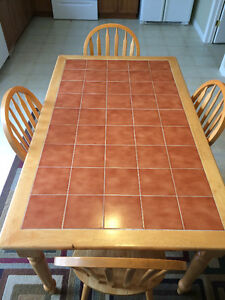 Tile Top Dinning Table and Chair Set