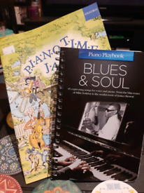 2 piano music books,jazz & blues & soul.