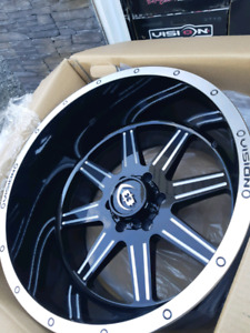 NEW 20X12 -51 6X135 Visionwheel rims
