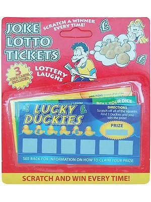 3 Winning Scratch Fake Lotto Lottery Tickets Card - Lotto Kostüm