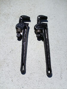 "2 Clés a tuyaux 14"" Pipes Wrench"