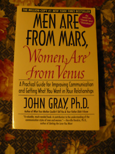MEN ARE FROM MARS,WOMEN ARE FROM VENUS