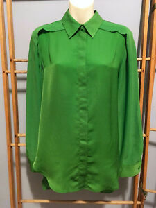 3.1 PHILLIP LIM x TARGET Kelly Green Chiffon BLOUSE Top, Sixe S London Ontario image 3