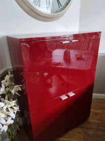 Red cupboard from Habitat