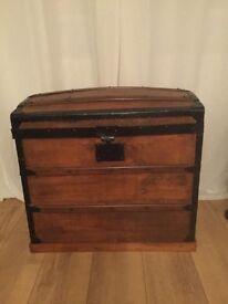 Antique chest looks lovely,