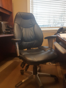 desk chair and 2 reception/guest chairs