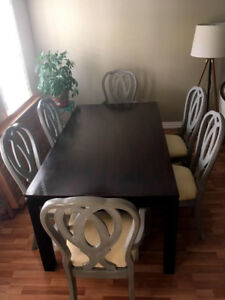 dining table set+6 chairs