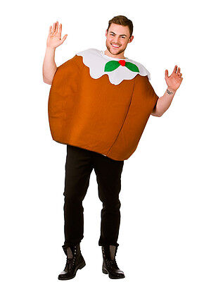 Adult Xmas Pudding Outfit Fancy Dress Costume One Piece Christmas Nativity