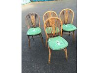 Four farmhouse chairs free local delivery