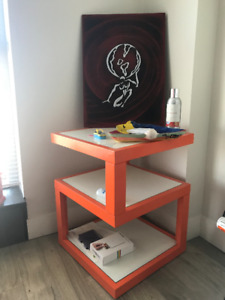 Fiesta Orange Accent Table