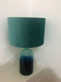 Teal/ green table lamp excellent condition