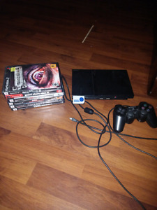 Playstation 2 - All Cables - One controller - 6 games