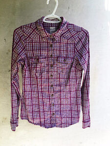 Pink Plaid Button-Up Cambridge Kitchener Area image 1