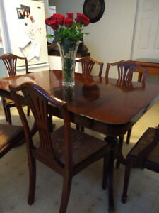 Duncan Phyfe Table & Chairs