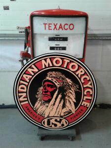 CLASSIC MOTORCYCLE  SIGNS AND COLLECTIBLES