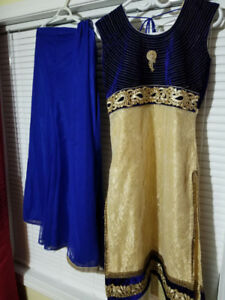 Three Indian dresses (suits) in great condition.